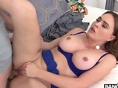 Sexy Big Boobed Housewife Krissy Lynn Desires Of Pleasant Rear End