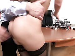 Dark Haired With Jiggly Breasts Gets Her Mouth Fucked Good And Hard