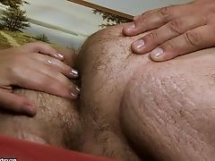 Ginger-haired Vamp Gives It To Hot Stud And Makes Him Bust A Nut