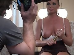 Dark Haired Silvia Saint Has Fire In Her Eyes As She Fucks Herself With Fake Penis