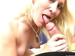 Matures Attempts Her Hardest To Make Her Romp Playmate Bust A Nut After Handjob