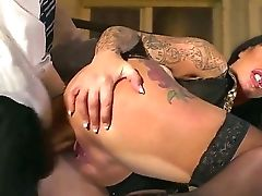 Big-chested Raven Haired Cougar With Massive Tits Kerry Louise Likes Gulping Danny D's Large Dick Before Being Pounded