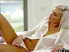 Blacked Preppy Blonde Girlfriend Kacey Jordan Cheats With Bb