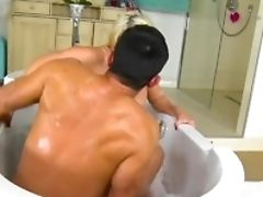 Sienna Day Gets Her Yam-sized Udders Fucked In The Bathtub