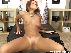 Long Legged Russian Model Maria Rya Is Playing With Herself And Pissing