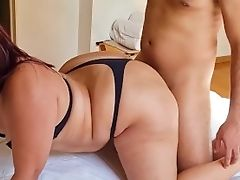 Sandy-haired Curvy With Giant Backside Getting Spunk In Her Bootie