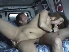 Random Fuck Monster Picked Up In Van Gives Filthy Deepthroat And Hard Pounding Fuck To Mummy Hunter