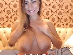 Thus Beautiful Huge-boobed Stunner Loves To Display Off Her Succulent Tits