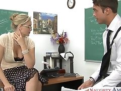 Schoolteacher Lewd Behavior Makes Youthful Man Horny And Out Of Manage