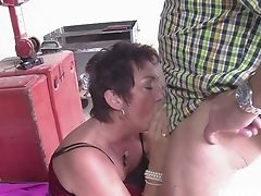 Old Village Whore Erica Likes Having Dirty Fuckfest With A Farmer