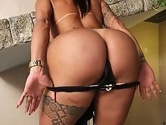 Amazing Suntanned Tgirl Isabelle Ferreira Is So Into Wanking Her Own Implement
