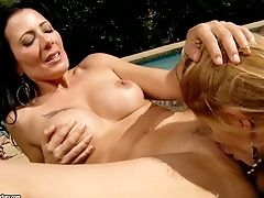 All Girl Scissoring Right In The Sun With Zoey Holloway And Lisa Daniels