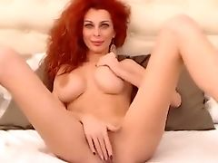 Curly Haired Vipereyess Jerking Her Assets And Slit Fucked