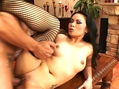 Dark Haired Wench Mya Luanna Makes Her Dirty Wishes A Reality With Marco Banderas's Fuck Stick Deep Down Her Facehole