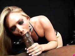 Blonde Inhales Monster Black Man Sausage Before Being Fucked
