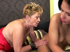 Old And Youthful Lesbo Madness With Denise Sky And Malya