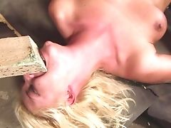 Blonde Has Fire In Her Eyes As She Takes Spunk Shot On Her Nice Face