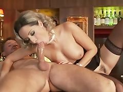 Insatiable Blonde Bitch Fucking Rectally In The Bar