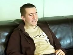 Brit Inexperienced Oils Up His Dick And Cums After Interview