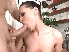 Black-haired Is On The Way To The Height Of Pleasure With Her Mans Love Torpedo In Her Mouth