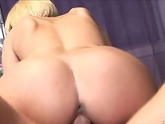 Blonde Jenny Hendrix With Gigantic Hooters Gets Gullet Banged By Mans Pulsing Sausage