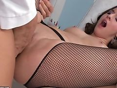 Plane Chested Amirah Adara Gets Bum-fucked In Pantyhose