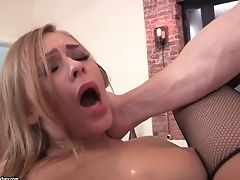 Euro Breezy In Stockings Doing Ass Fucking