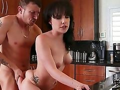 Katie St. Ives Gets Her Hairy Cooter Used In The Kitchen