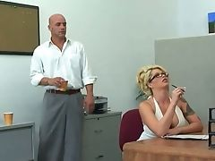 Big-titted Bootylicious Blonde Brooke Haven Is Having Hookup With Her Colleague