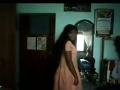 Natural Dark Skinned Lady From India Flashed Her Tits And Butt While Disrobing