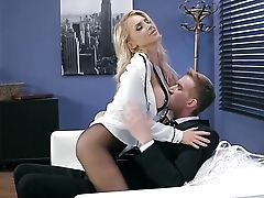 Blonde With Jummy Knockers Wants Hump Despairingly And Gets It From Danny D