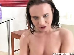 Czech Honey Wendy Moon Is Playing With Funnel And Pisses Allover The Place