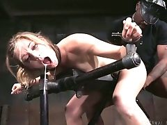 Cuffed Obedient Super-bitch Mona Wales Gets Boned Violently By Studs (fmm)