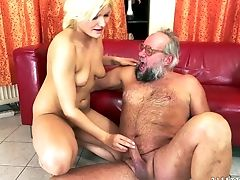 Old And Youthful Rimming With Blonde Kitty Rich